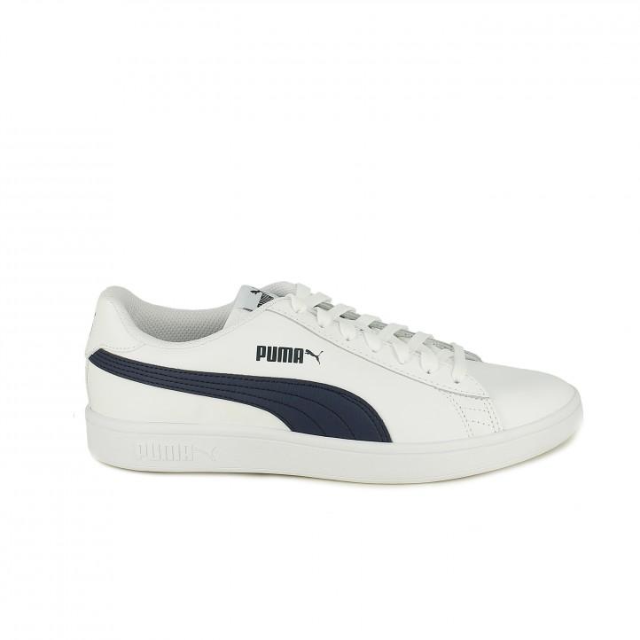 c877581f4a zapatillas deportivas PUMA blancas y azules de piel - Querol online ...