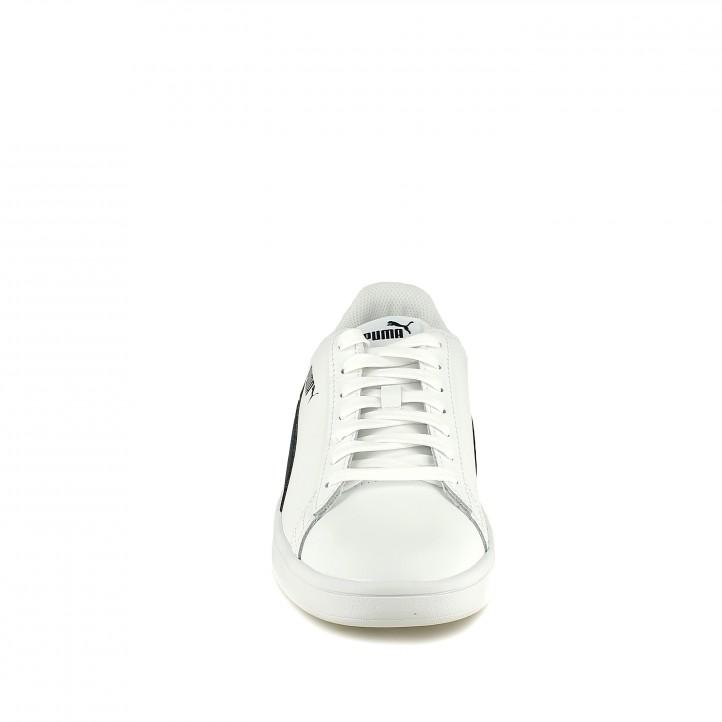zapatillas deportivas PUMA blancas y azules de piel - Querol online