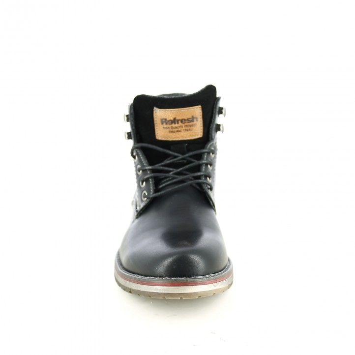 botines REFRESH FOOTWEAR negros sintéticos - Querol online