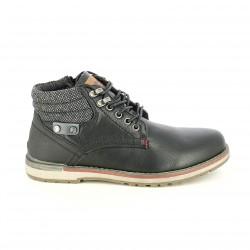 botins REFRESH FOOTWEAR negres i grisos amb cordons - Querol online