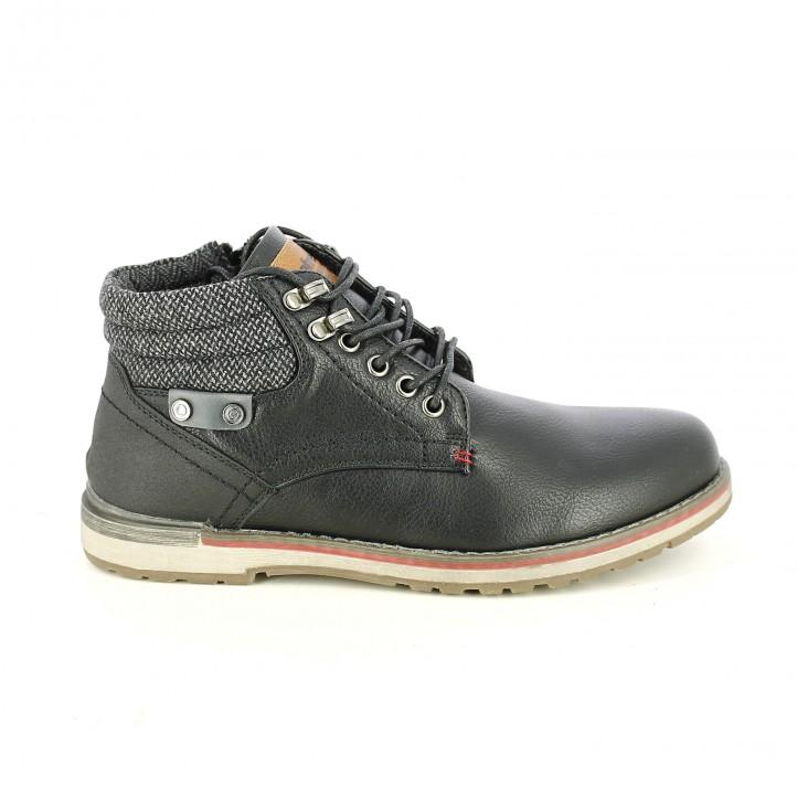 botines REFRESH FOOTWEAR negros y grises con cordones - Querol online