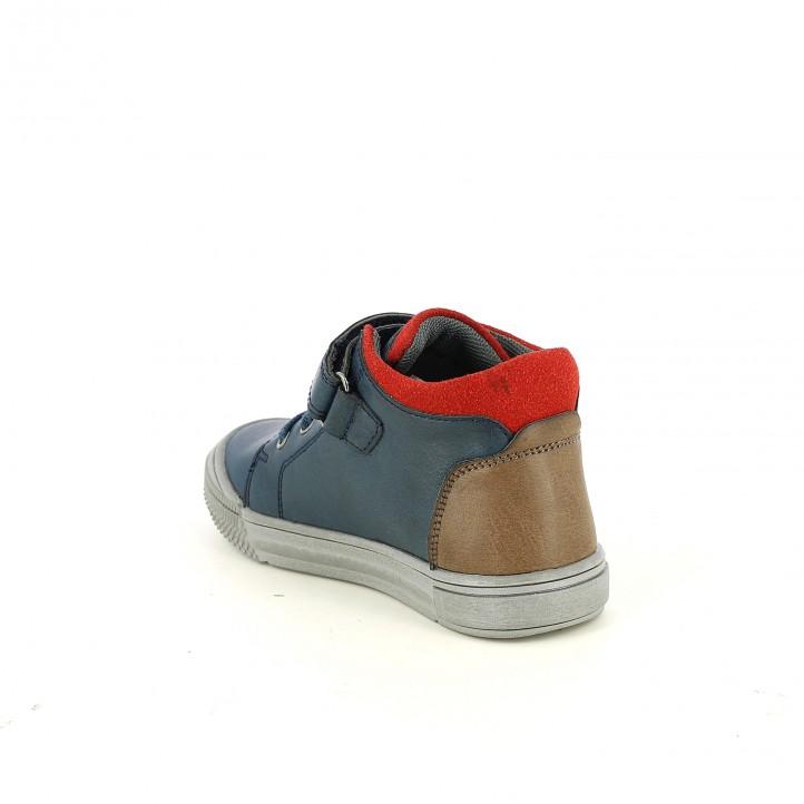botines K-TINNI azules, rojos y marrones - Querol online