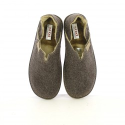 Zapatillas casa VUL·LADI marrones cerradas - Querol online