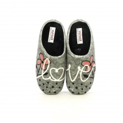 zapatillas casa VUL·LADI con flores - Querol online