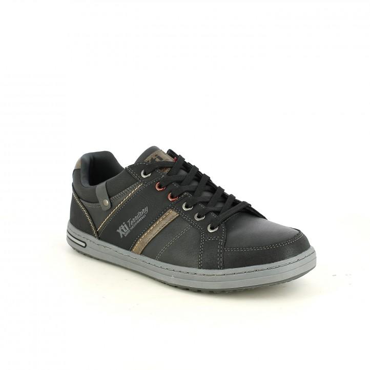 zapatos sport XTI negros y marrones - Querol online