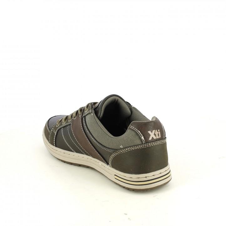 zapatos sport XTI marrones con rayas - Querol online