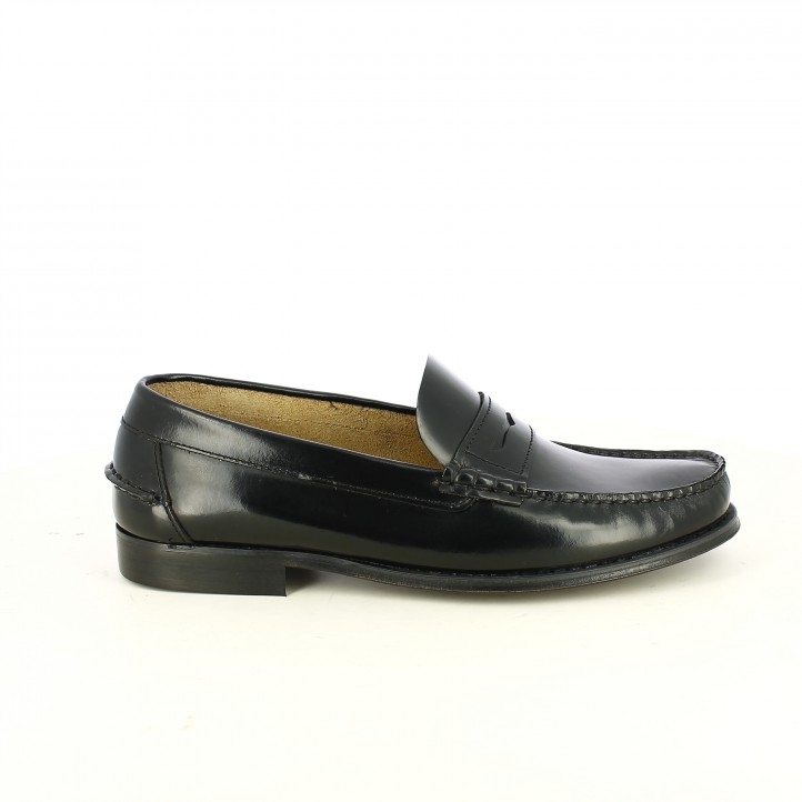 zapatos vestir BE COOL mocasines negros - Querol online
