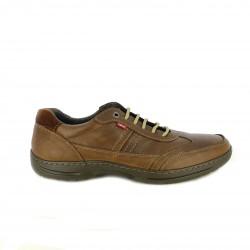 sabates sport NUPER marrons de pell llisa i serratge - Querol online
