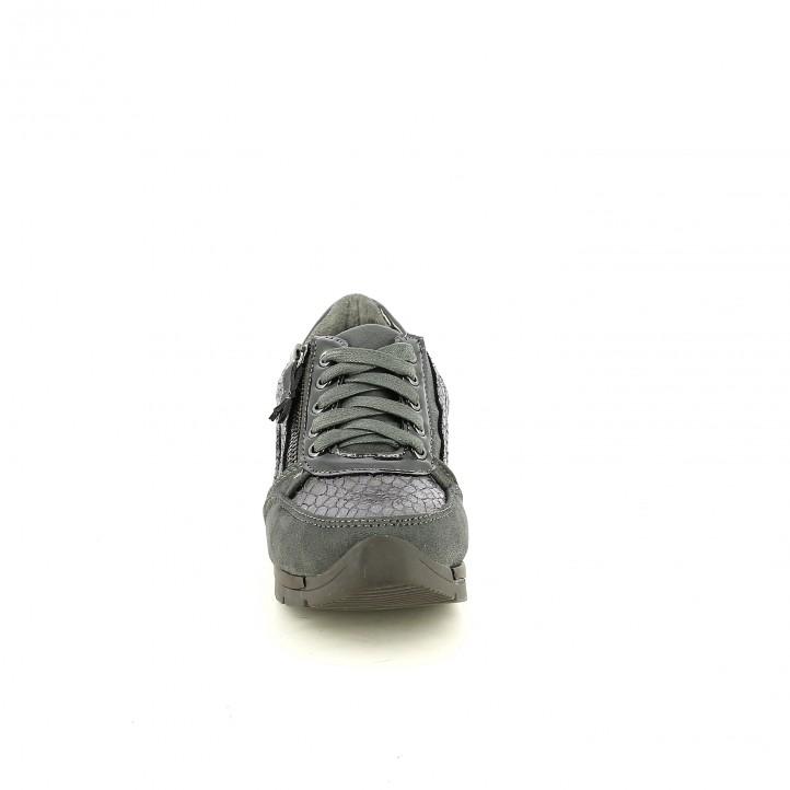 zapatillas deporte XTI plateadas con animal print - Querol online