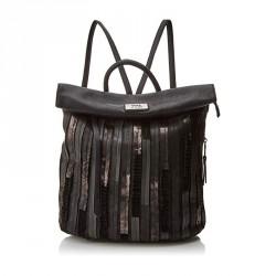 complementos XTI mochila negra con rayas metalizadas - Querol online