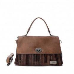 complementos XTI bolso marrón con rayas - Querol online