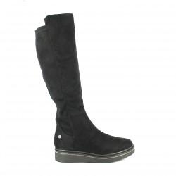 botas planas XTI negras con brillantes en la suela - Querol online