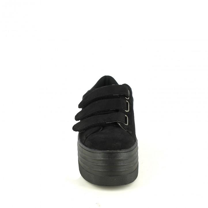 zapatillas lona XTI negras con velcros - Querol online