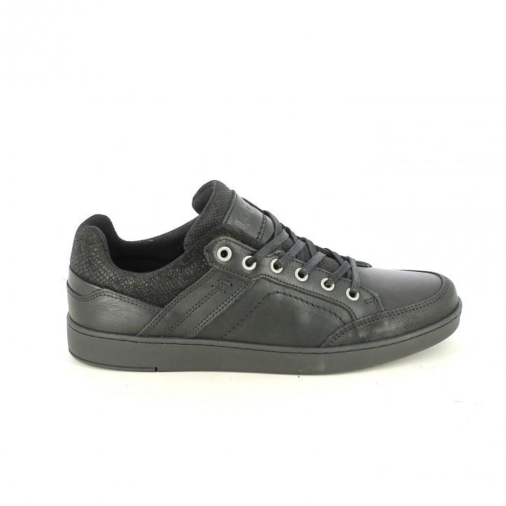zapatos sport LOBO negros con animal print - Querol online