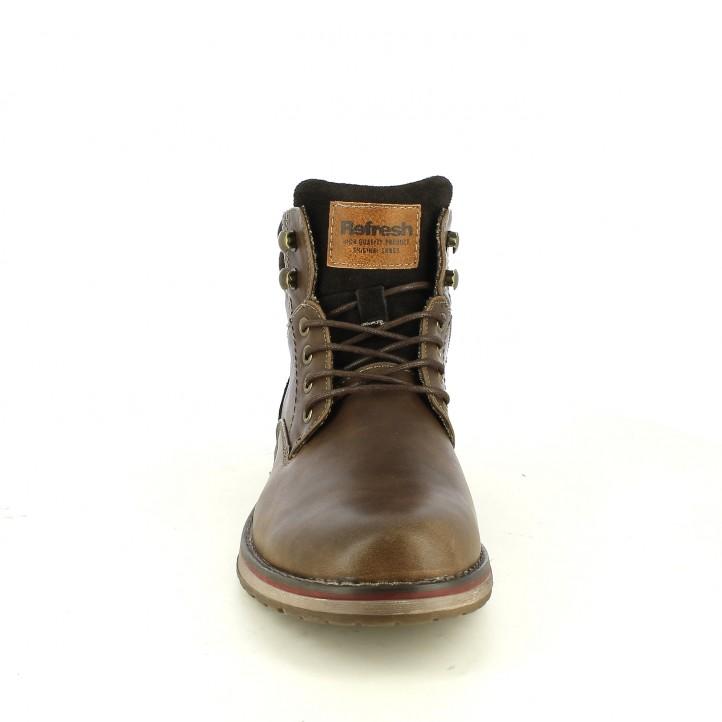botines REFRESH FOOTWEAR marrones sintéticos - Querol online