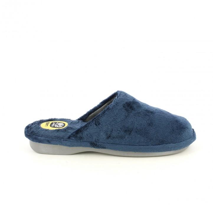 zapatillas casa LARO azul marino - Querol online
