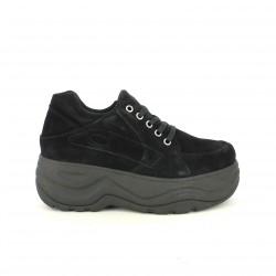 sabatilles esportives OWEL negres de serratge amb plataforma - Querol online