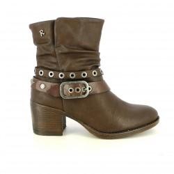botines tacón REFRESH FOOTWEAR marrones cowboy - Querol online