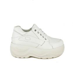 zapatillas deportivas OWEL blancas con plataforma - Querol online