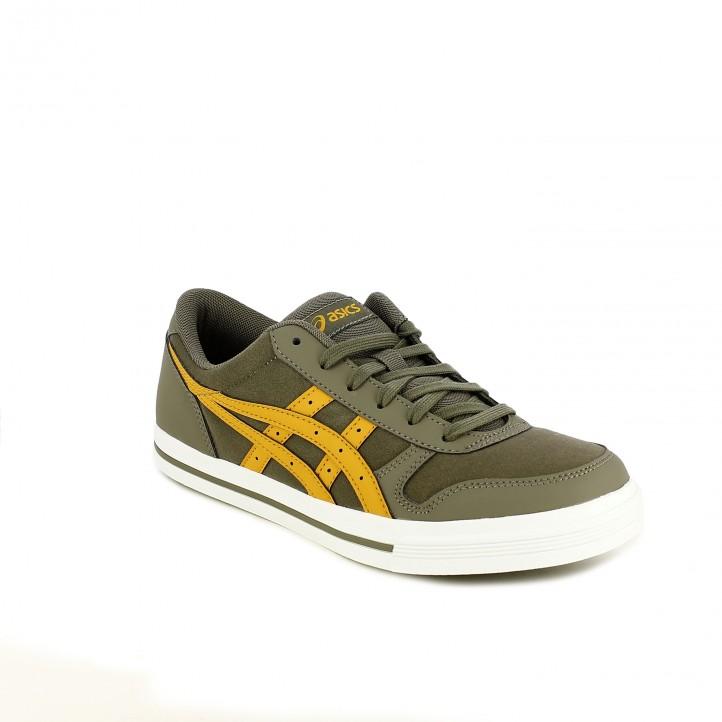 zapatillas deportivas ASICS grises y amarillas - Querol online