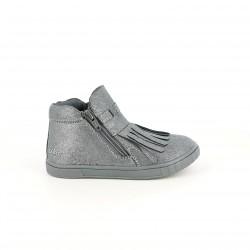 zapatillas lona CHICCO plateadas con flecos - Querol online