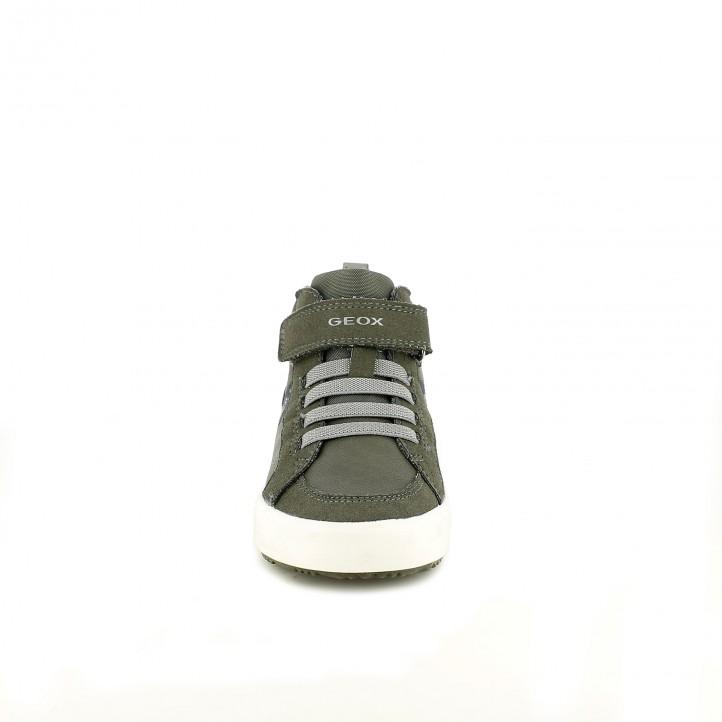 zapatos GEOX verdes y azules con cordones elásticos - Querol online