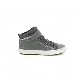 zapatillas lona GEOX grises y plateadas con brillantes - Querol online