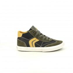 zapatillas lona GEOX verdes, grises y amarillas - Querol online