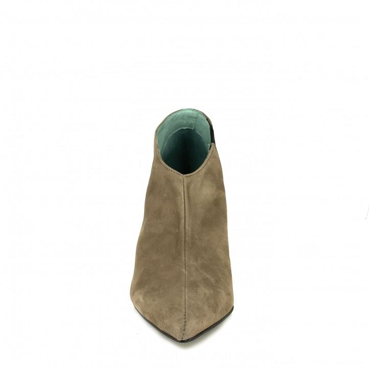 botines tacón LAB grises de piel con goma - Querol online