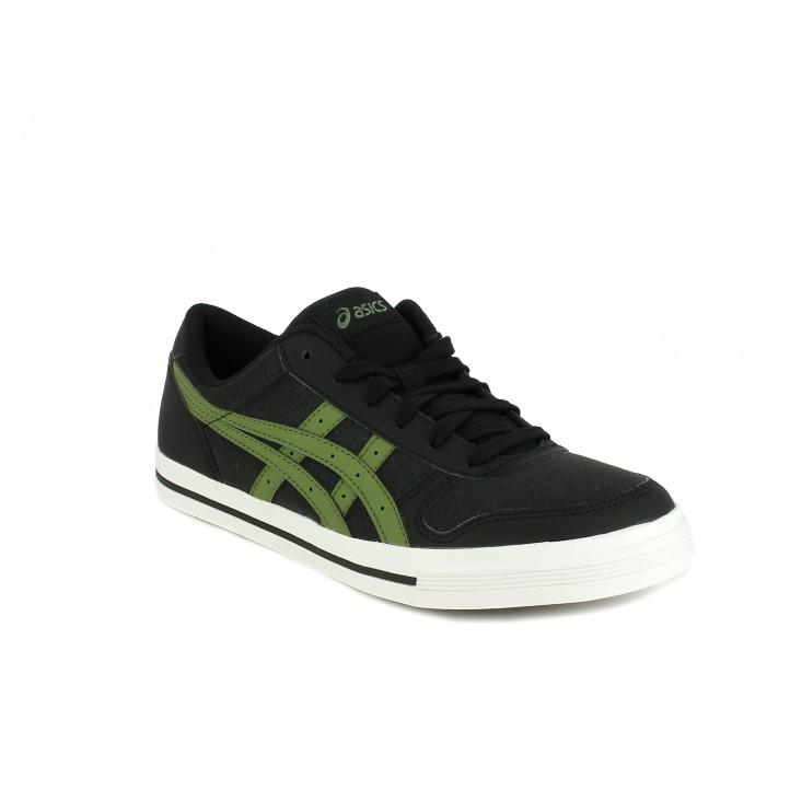 zapatillas deportivas ASICS negras y verdes - Querol online