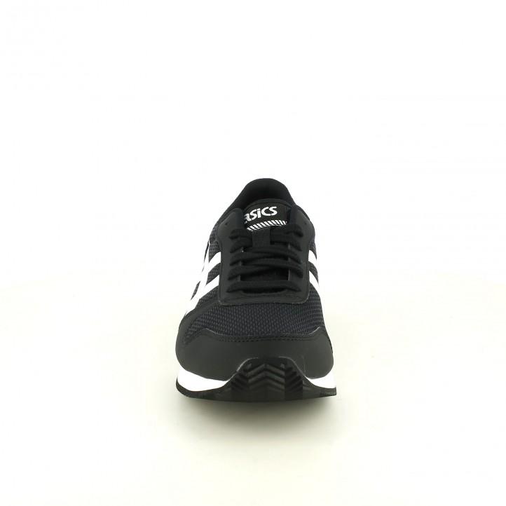 zapatillas deportivas ASICS negras con rayas blancas - Querol online