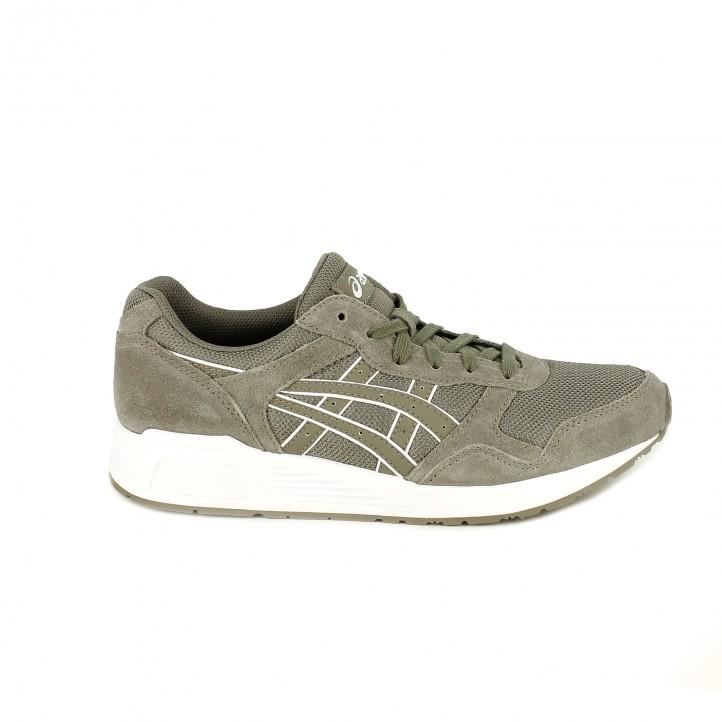 zapatillas deportivas ASICS grises con serraje - Querol online