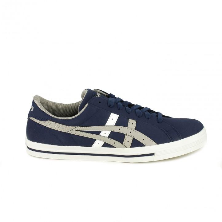 d25fc5b5a zapatillas deportivas ASICS azules con líneas grises - Querol online ...
