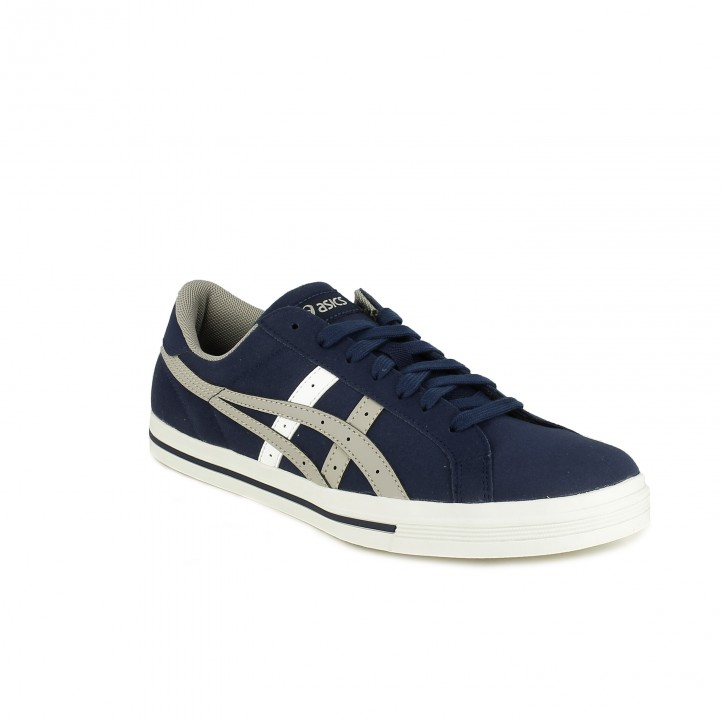 zapatillas deportivas ASICS azules con líneas grises - Querol online