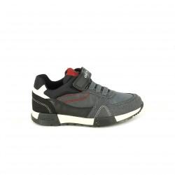 zapatillas deporte GEOX grises, negras y rojas - Querol online