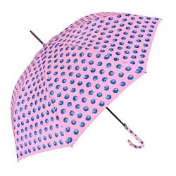 complementos PERLETTI paraguas rosa con topos azules - Querol online