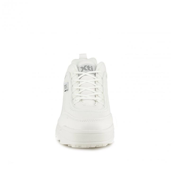 zapatillas deportivas XTI blancas y con plataforma - Querol online