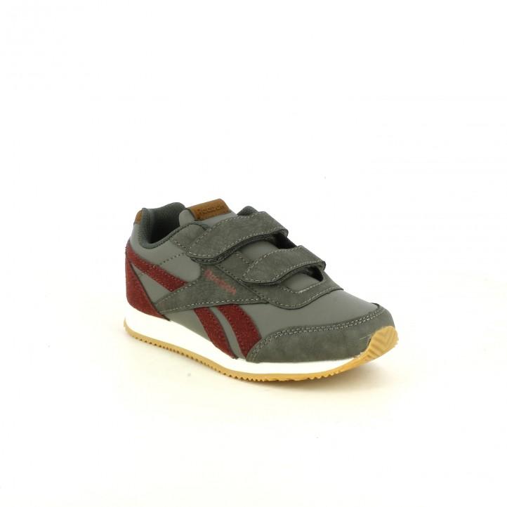zapatillas deporte REEBOK grises y burdeos - Querol online