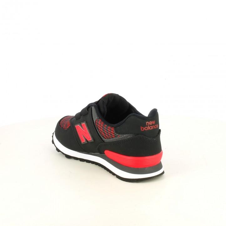 zapatillas deporte NEW BALANCE 574 negras y rojas - Querol online