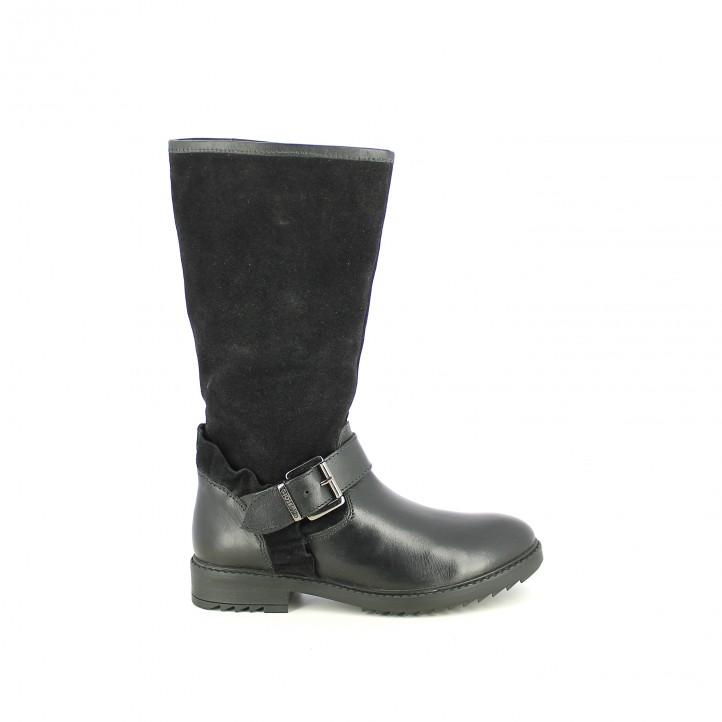 b24a62af382 botas GIOSEPPO negras de piel con volantes - Querol online ...