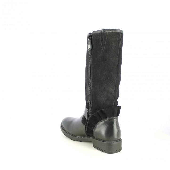 botas GIOSEPPO negras de piel con volantes - Querol online