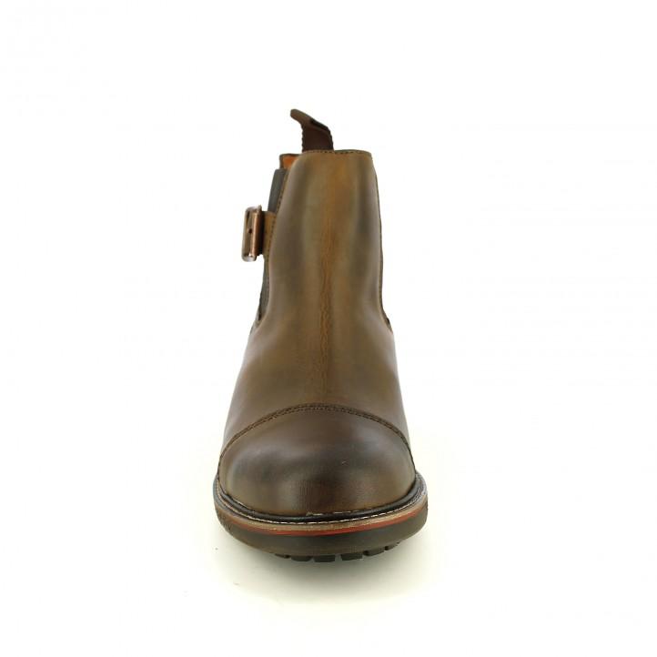 botins LOBO marrons de pell amb gomes i sivelles - Querol online