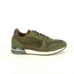 zapatos sport LOBO verdes de piel - Querol online