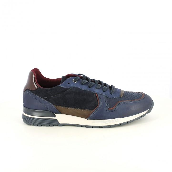zapatos sport LOBO azules de piel - Querol online