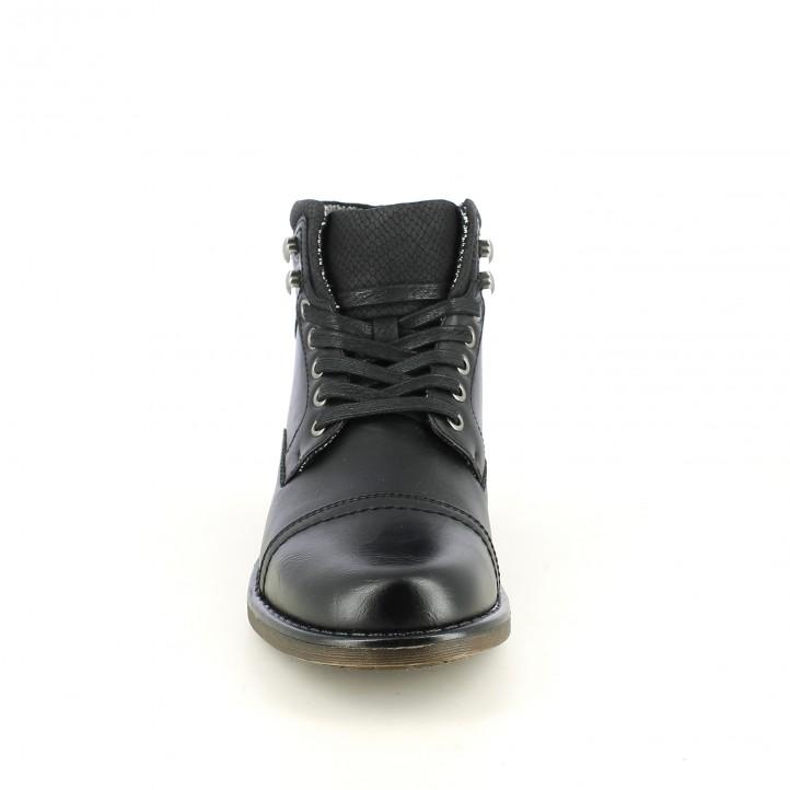 botines ANDY-J negros sintéticos con cordones - Querol online