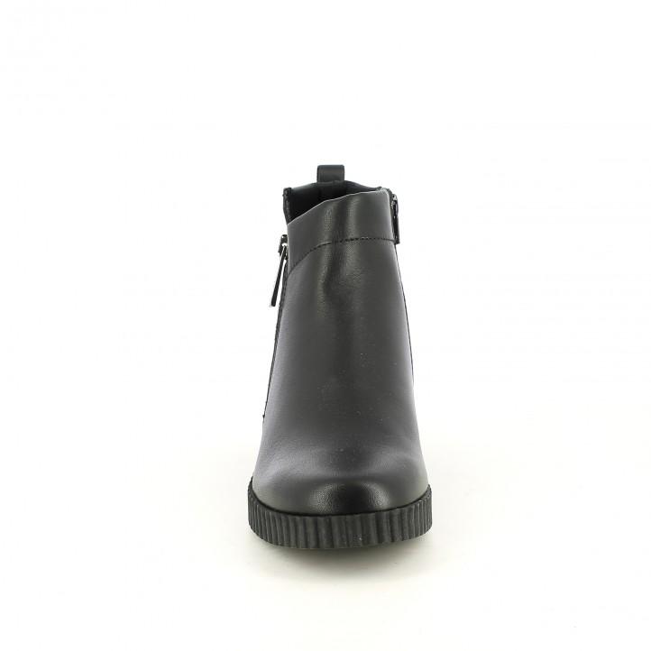 botines planos THE FLEXX negros de piel lisa con cuña - Querol online