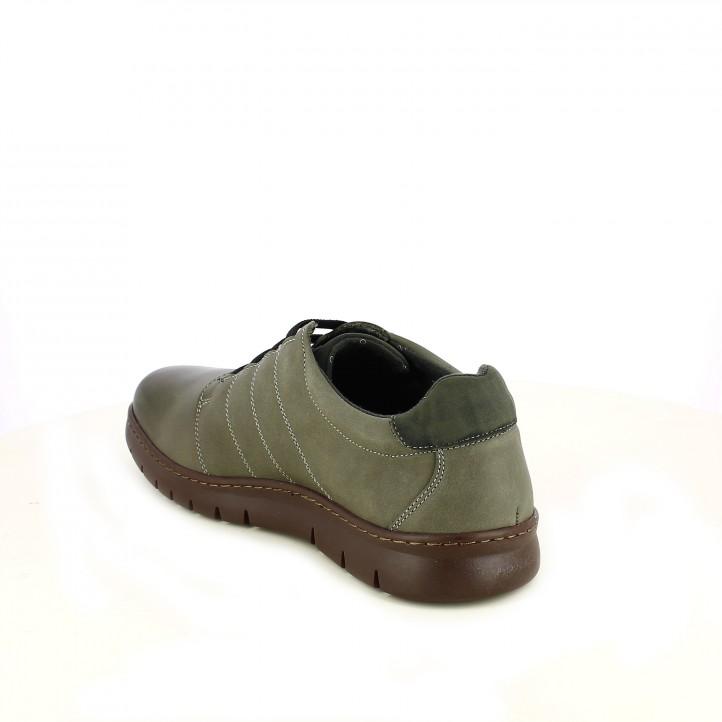 zapatos sport BAERCHI de piel con cordones elásticos - Querol online