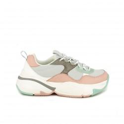 zapatillas deportivas VICTORIA rosas y grises con plataforma - Querol online