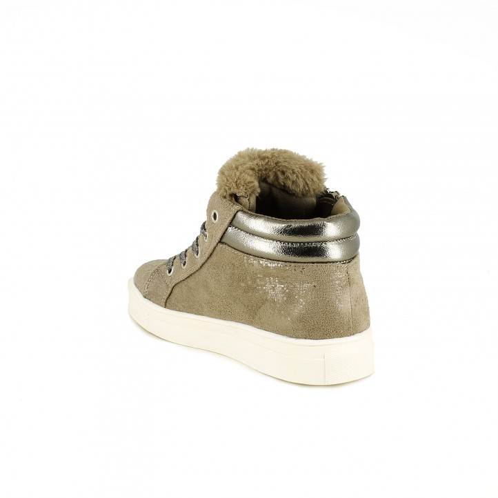 zapatillas lona CHIKA10 taupe con pelo - Querol online