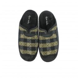 zapatillas casa GARZON verdes y negras - Querol online